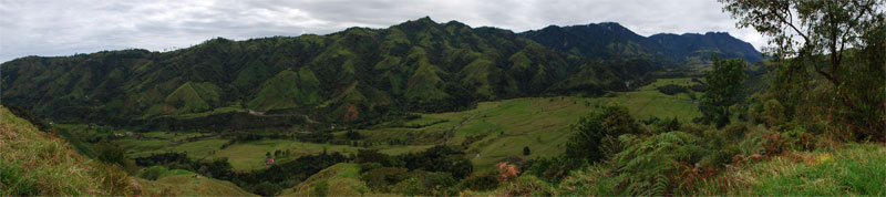 Verdant valleys abound in Colombia.