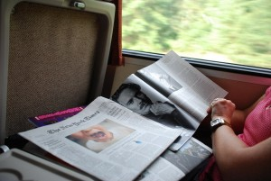 AMTRAK with the New York Times
